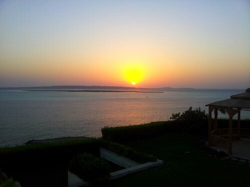 Sun rise at TheView – Hurghada – Villas and Apartments